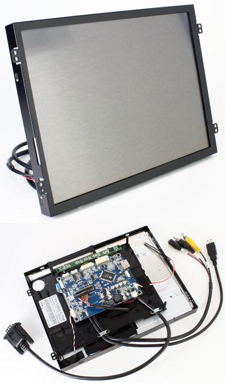 """CTF1040<b>-CTM</b> - VGA/HDMI 10.4"""" TFT - Capacitive Multi-Touchscreen USB - Video - <b>OPEN-FRAME</b> [1024x768, Kontrast 1200:1]"""