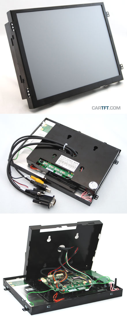 "CTF1040<b>-MX</b> - VGA 10.4"" TFT - Touchscreen USB - Video - <b>OPEN-FRAME</b> [1024x768, Kontrast 1200:1]"