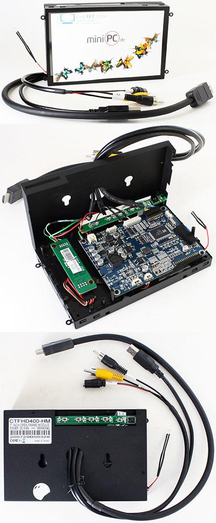 """CTFHD400-<b>HM</b> - HDMI 7"""" TFT - Touchscreen USB - <b>OPEN-FRAME</b> (<b>1000nits, 1024x600</b>)"""