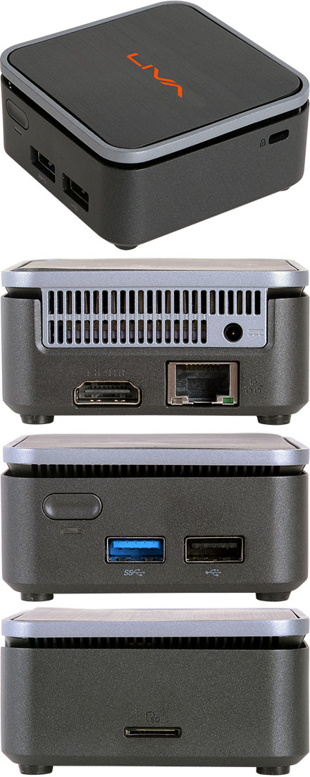 ECS LIVA Q2 MiniPC (Intel Celeron N4000, 4GB RAM, 64GB eMMC, Windows 10 Pro)