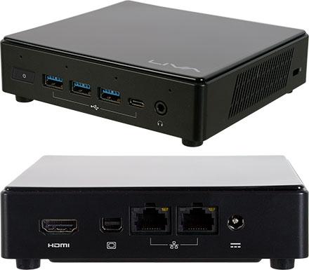 ECS LIVA Z3 Plus MiniPC (Intel i3-10110U, 2x LAN, Alexa A4PC)