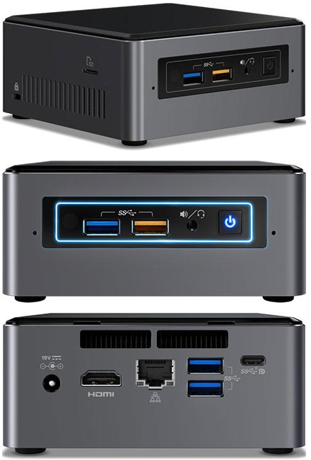 Intel NUC7i3BNHXF (Intel i3-7100U CPU 2x 2.4Ghz, 4GB RAM, 16GB Optane, 1TB HDD, Windows 10 Home)