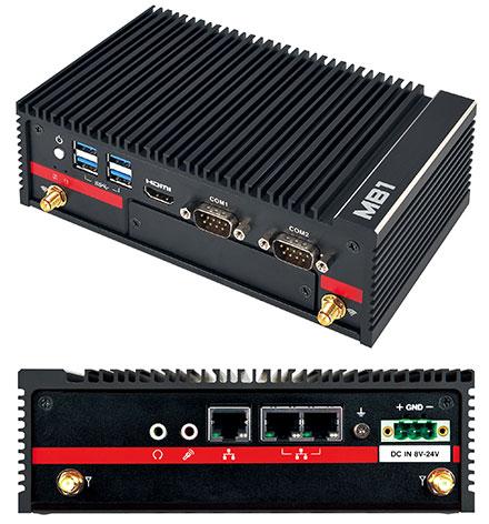 Mitac MB1-10AP-N4200-POE (Intel Apollo Lake N4200 4x 2.5Ghz, 2x POE LAN, 2x RS232) [<b>FANLESS</b>]