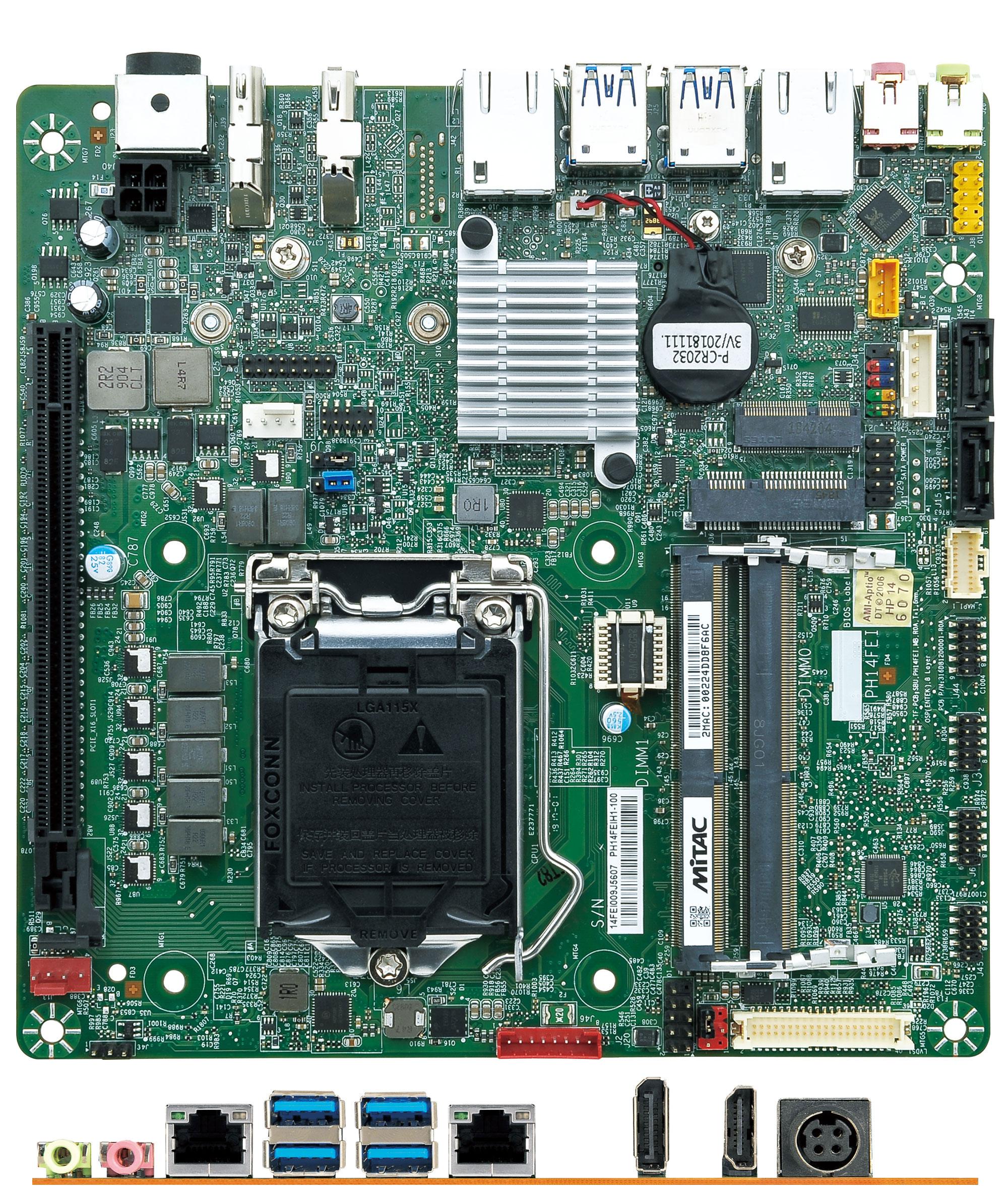 Mitac PH14FEI-Q370-12V Thin-ITX (Intel Q370, LGA1151 Coffee Lake)