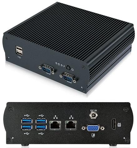 Mitac S300-10AS-WIDE (Intel Apollo Lake E3950 4x 2Ghz, 2x Gigabit LAN, VGA/HDMI, 2x RS232) [<b>FANLESS, [Extended temperature range -40°C to 60°C]</b>]