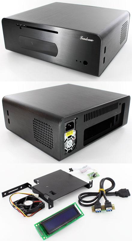Tendraw H128C HTPC Mini-ITX enclosure (250W, 2x USB3.0, 20x2 USB LCD)